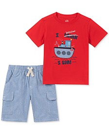 Kids Headquarters Baby Boys 2-Pc. T-Shirt & Shorts Set