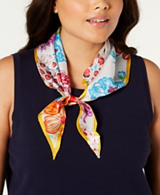 Echo Joy Floral Silk Diamond Scarf