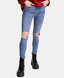 High Rise Busted Skinny Jeans