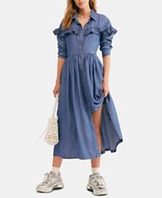 5df433493 Free People Montana Sunset Midi Shirt dress
