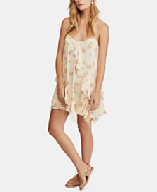 Free People Sunlit Printed Ruffled Mini Dress