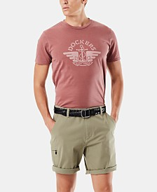 Dockers Men's Garment Dyed Logo T-Shirt