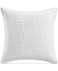 "Classic Jardin Quilted 26"" x 26"" European Sham, Created for Macy's"