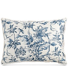 Hotel Collection Classic Botanical Toile Cotton King Sham, Created for Macy's