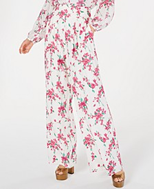 Steph Floral-Print Wide-Leg Pants
