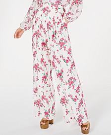 Steph Floral-Print Wide-Leg Pants