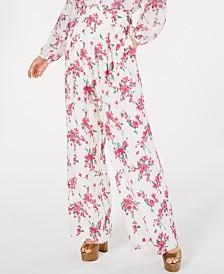 Rachel Zoe Steph Floral-Print Wide-Leg Pants