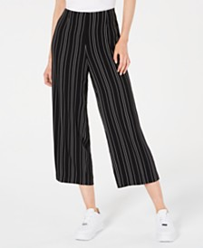 Bar III Cropped Stripe Pants, Created for Macy's