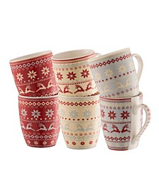 Fairisle Mugs Set of 6