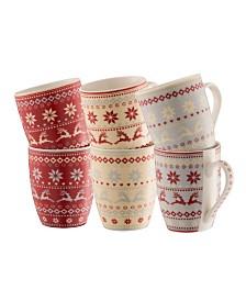 Fairisle Mugs Set of 6