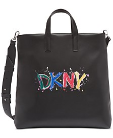 DKNY Tilly Paint Logo Tote, Created for Macy's