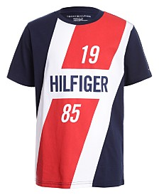Tommy Hilfiger Big Boys Colorblocked Logo Panel T-Shirt