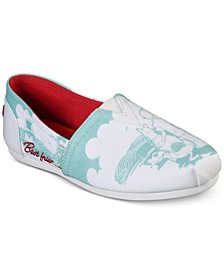 Women's BOBS For Dogs BOBS Plush - Besties Casual Wide Width Slip-On Flats from Finish Line