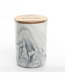 Marble Look Large Canister