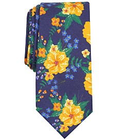 Bar III Men's Morgan Skinny Floral Tie, Created for Macy's
