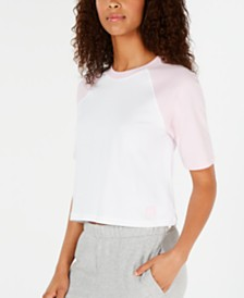 Calvin Klein Cotton Colorblocked Raglan Sleep Shirt QS6238