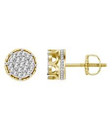 Men's Diamond (3/4 ct.t.w.) Earring Set in 10k Yellow Gold
