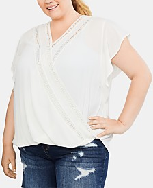 Jessica Simpson Plus Size Wrap Nursing Top