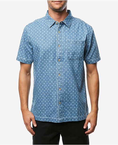 O'Neill Men's Palm Brawl Printed Shirt