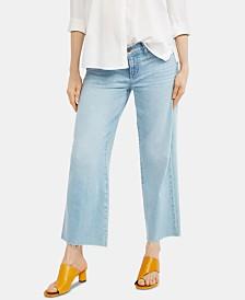 Paige Denim Maternity Cropped Wide-Leg Jeans