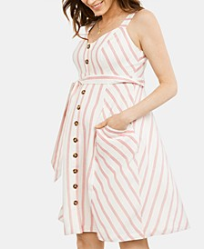 Maternity Button-Front Dress