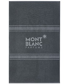 Receive a Complimentary Towel with any large spray purchase from the Montblanc Men's fragrance collection