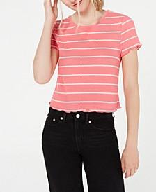 Juniors' Lettuce-Hem T-Shirt