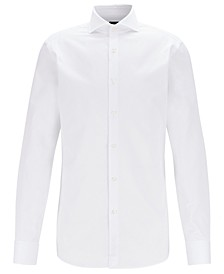BOSS Men's T-Yacob Slim-Fit Piqué Cotton Shirt