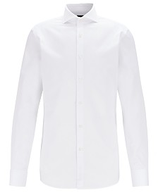 BOSS Men's T-Yacob Slim-Fit Piqué Cotton Shirt