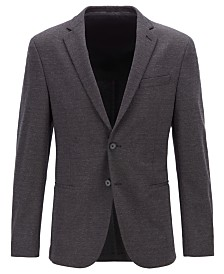 BOSS Men's Norwin4-J Slim-Fit Mélange Jersey Jacket