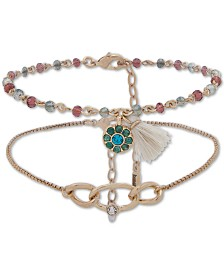 lonna & lilly Gold-Tone 2-Pc. Set Beaded Anklet