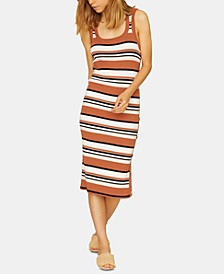 Sheyna Striped Sleeveless Sweater Dress