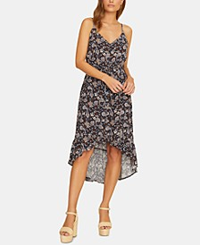 Palm Spring Printed Button-Front Sleeveless Dress