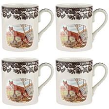 Woodland Red Fox Mug Set/4