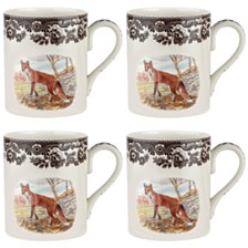 Spode Woodland Red Fox Mug Set/4