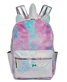 P.S. from Aéropostale Little & Big Girls Faux-Fur Unicorn Backpack