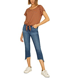 Lou Striped Tie-Hem T-Shirt