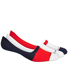 Calvin Klein Men's 3-Pk. Colorblocked No-Show Socks