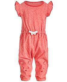 Baby Girls Bear Face Jumpsuit, Created for Macy's