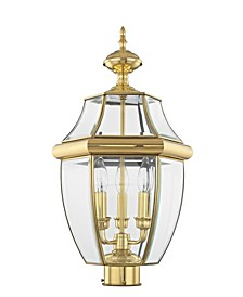 Monterey 3-Light Outdoor Classic Color Post Lantern