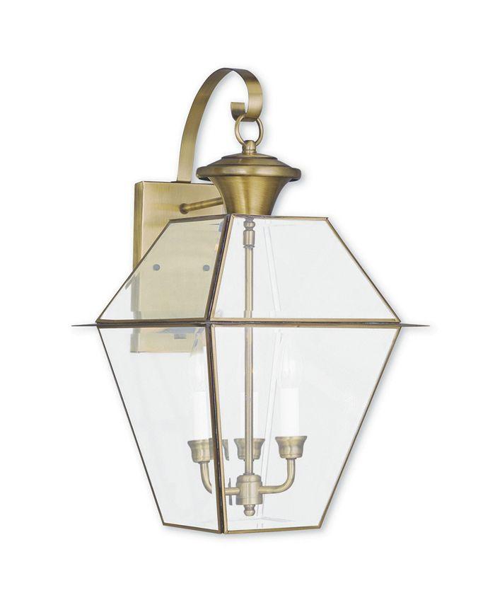 Livex - Westover 3-Light Outdoor Wall Lantern