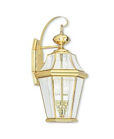 CLOSEOUT! Livex   Georgetown 2-Light Outdoor Wall Lantern