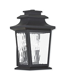 CLOSEOUT!   Hathaway 2-Light Small Outdoor Wall Lantern