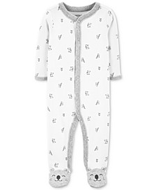 Baby Boys & Girls Koala-Print Footed Cotton Coveall