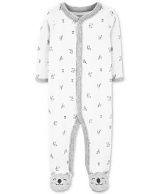 Carter's Baby Boys & Girls Koala-Print Footed Cotton Coveall