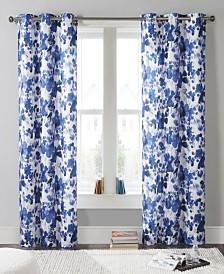 """Laurent 38"""" x 84"""" Floral Curtain Set"""