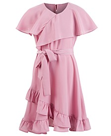 Big Girls Challi Faux-Wrap Ruffled Dress