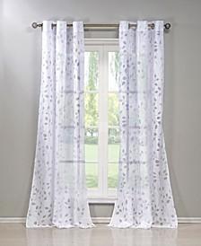 "Welwyn 38"" x 84"" Printed Sheer Curtain Set"