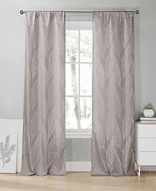 "Leah 39"" x 96"" Leaf Print Curtain Set"