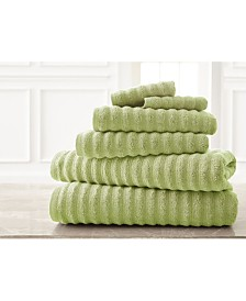 Wavy Luxury Spa Collection 6 Piece Quick Dry Towel Set